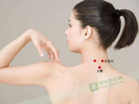 颈百劳穴位位置图,颈百劳穴的作用可治疗失眠