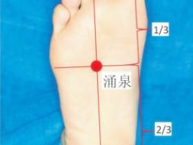 涌泉的准确位置图,涌泉穴的功效与作用