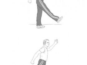 甩腿扭膝改善老慢支