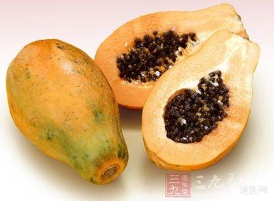 木瓜性温、味酸,入肝、脾经; 具有消食,驱虫,清热,祛风的功效