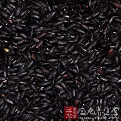 黑米所含锰、锌、铜等无机盐大都比大米高1~3倍