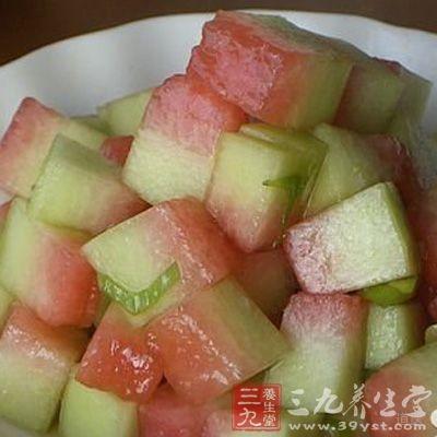 西瓜皮本身是寒凉性食物