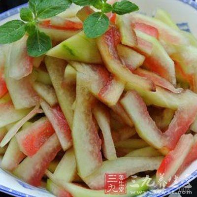 西瓜就是典型的寒性食物