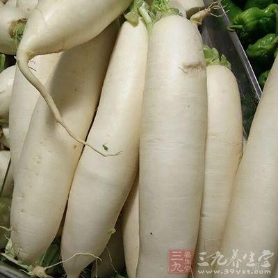 白萝卜容易产生胀气