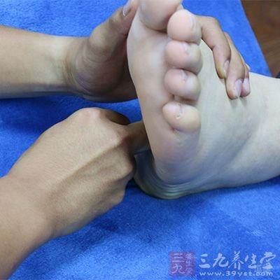 静止穴位刺激按摩脚底