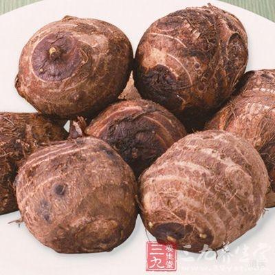芋头为碱性食品,能中和体内积存的酸性物质,调整人体的酸碱平衡