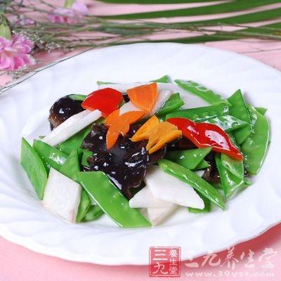 荷兰豆能益脾和胃、生津止渴、和中下气、除呃逆、止泻痢、通利小便