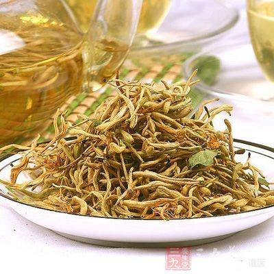金银花茶对喉咙肿痛、感冒患者均有效