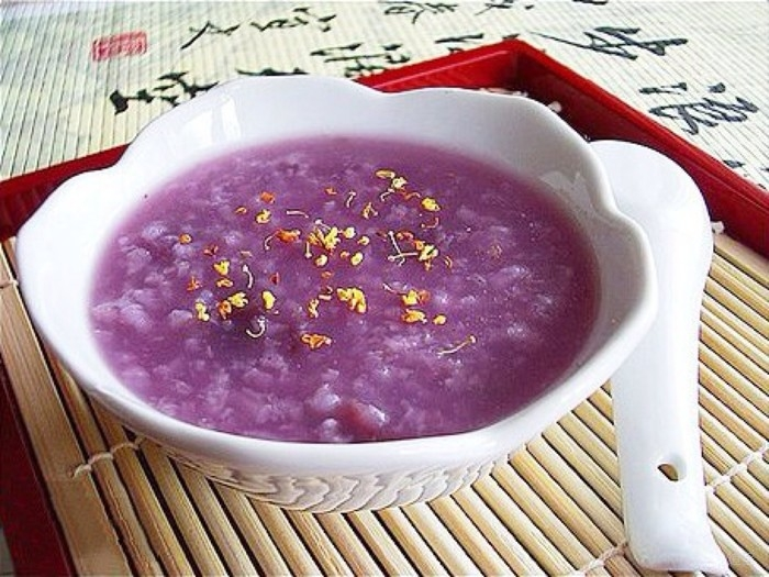 杏仁紫薯粥