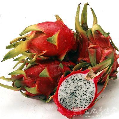 火龙果含有丰富的胡萝卜素 (维生素A之前驱物质)