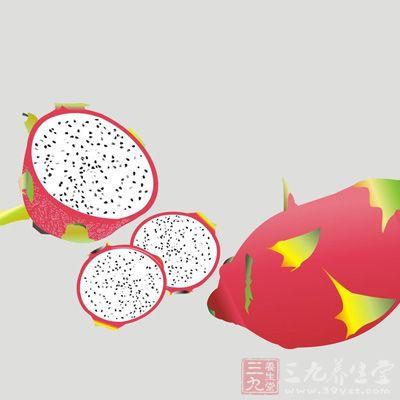 火龙果可抗氧化、抗自由基,常食可以减肥、美白、抗衰老