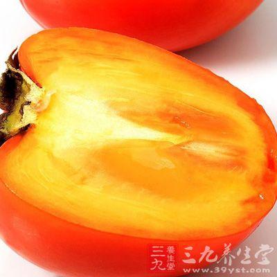 柿子入心、肺、大肠经
