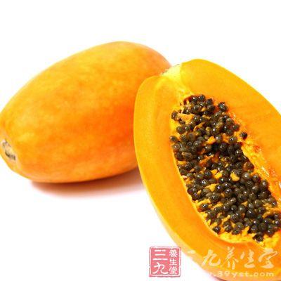木瓜特有的木瓜酵素能清心润肺,帮助消化,达到帮助减肥的功效