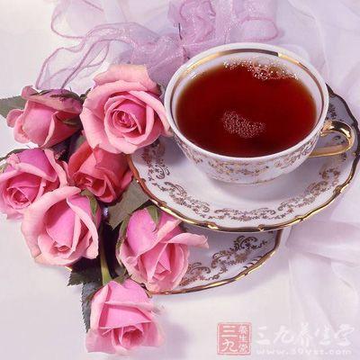玫瑰美容茶具有清热消火