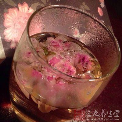 玫瑰花茶味道清甜很多