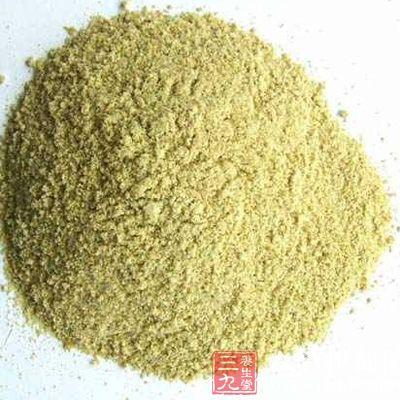 西洋参美颜面膜的用料之一是绿豆粉