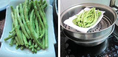 清蒸豆角的两种做法,豆角怎么清蒸好吃