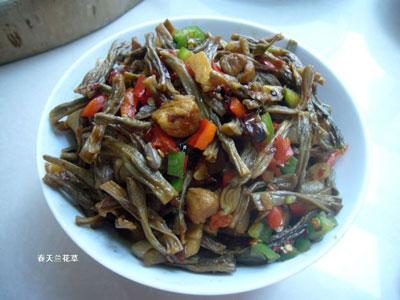 湖南干豆角焖肉的做法,干豆角焖肉怎么做