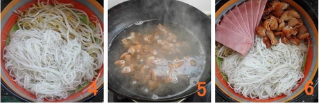 火腿肥肠米线步骤4-6
