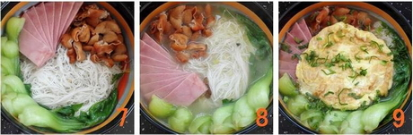 火腿肥肠米线步骤7-9