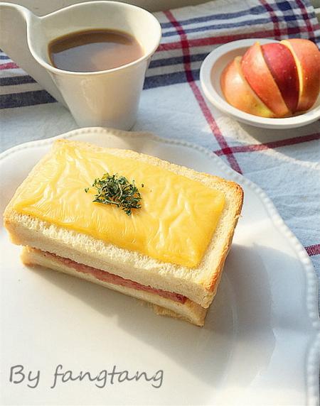 芝士火腿三明治的做法