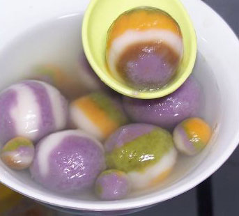 彩色紫薯汤圆的做法,如何自制彩色的紫薯汤圆