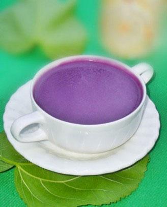 紫薯豆浆的做法,很简单
