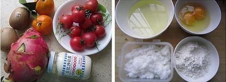 脆皮水果沙拉卷步骤1-2