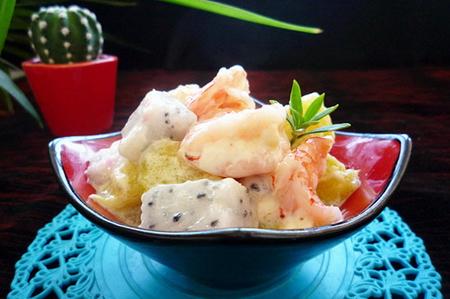 虾水果沙拉