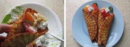 脆皮水果沙拉卷步骤15-16