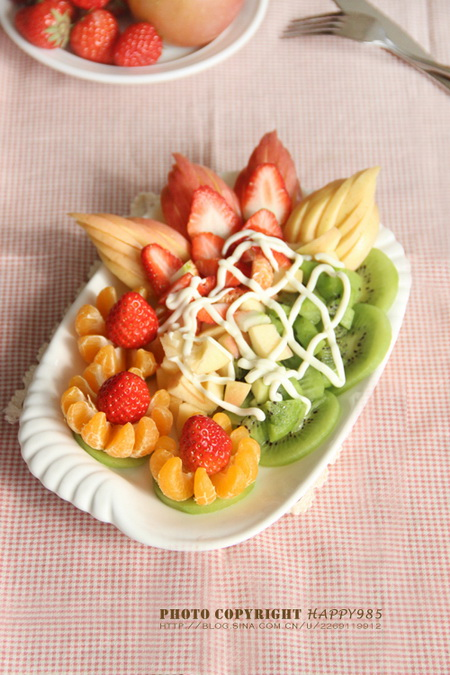水果沙拉拼盘的做法