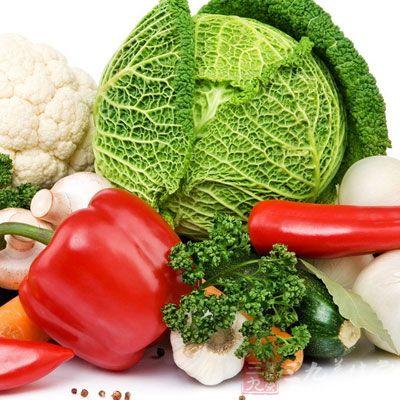搭配合理,要多吃蔬菜、水果