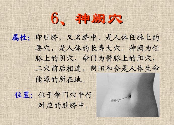 [转载]六大长寿穴