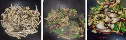 腊肉干锅茶树菇的做法步骤4-5