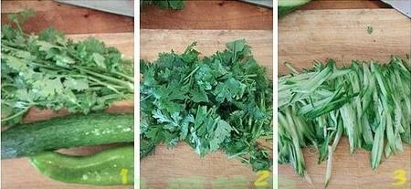 虾皮老虎菜的做法步骤1-3