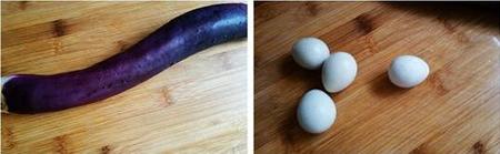 茄条拌鹌鹑皮蛋的做法步骤1