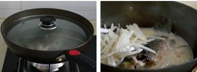 萝卜丝鲫鱼汤的做法步骤6-7