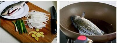 萝卜丝鲫鱼汤的做法步骤2-3