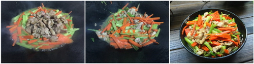 红萝卜芹菜炒瘦肉步骤5
