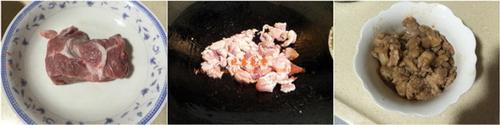 红萝卜芹菜炒瘦肉步骤1-2