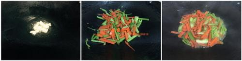 红萝卜芹菜炒瘦肉步骤3-4