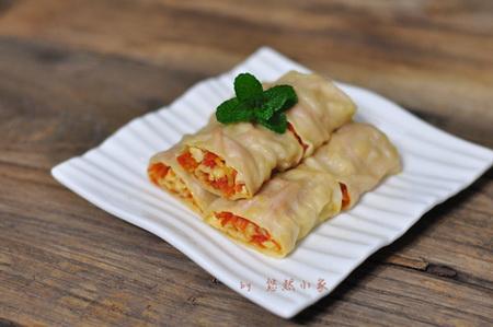 红萝卜豆腐菜卷