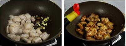 萝卜红烧肉的做法步骤1-2