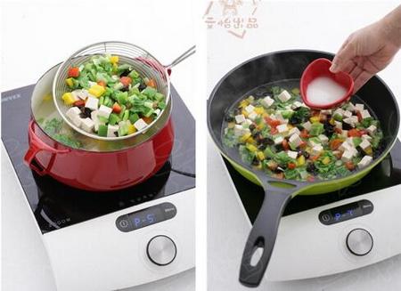 黑木耳豆腐奶白菜的做法步骤4-6