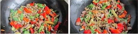 下饭菜酸豇豆炒鸡胗的做法步骤4