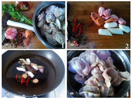 凉拌鸡胗步骤1-4