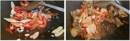 酸萝卜炒鸡胗的做法步骤8-9