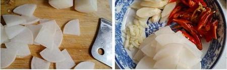 酸萝卜炒鸡胗的做法步骤6-7