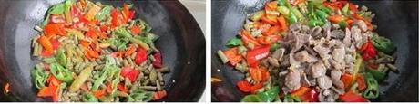 下饭菜酸豇豆炒鸡胗的做法步骤3