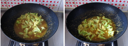 芝香咖喱菜花步骤9-10